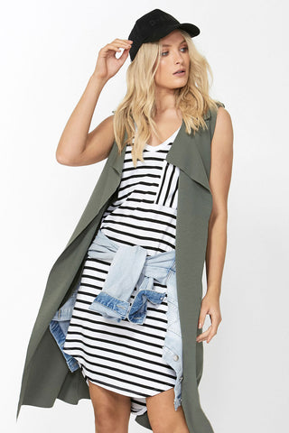 Luxe Sleeveless Utility Trench