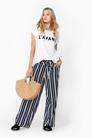 Julia Stripe Wide Leg Pant