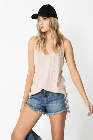 Luxe Distressed Linen Tank