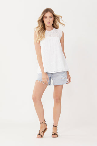 Beth Broderie Top