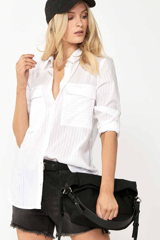 Harmony Sheer Stripe Shirt