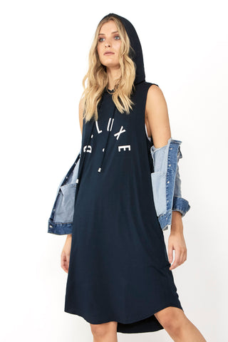 Luxe Logo Hooded Dress