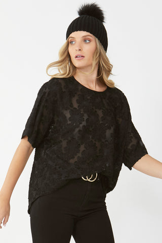 Katia Burnout Boxy Top