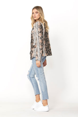 Carly Printed Blazer