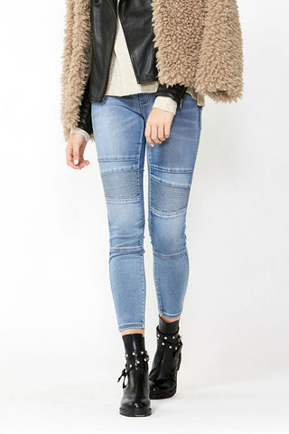 Riley Crop Biker Jean