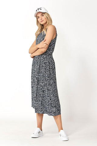 Felicity Shirred Midi Dress