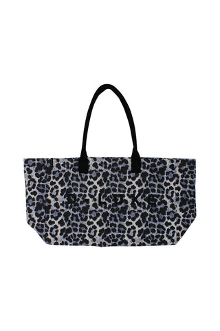 Luxe Large Logo Canvas Tote