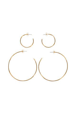 Ava Small Large Hoops