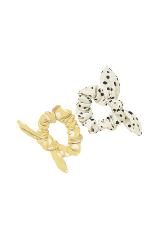 2 Pack Bow Scrunchie
