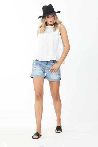 Kaia Lace Ruffle Top