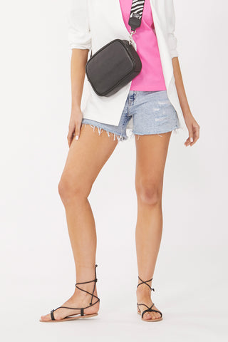 Charlie Distressed Denim Short