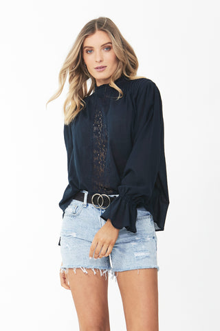 Victoria Lace High Neck Blouse