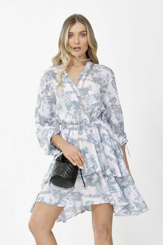 Claire Tiered Wrap Dress
