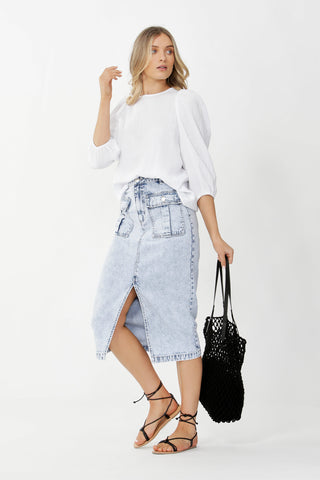 Milani Patch Pocket Midi Skirt