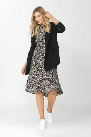 Jordan High Low Midi Dress