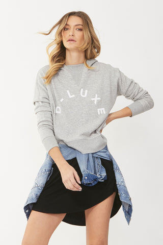 Luxe Rib Neck Hoodie