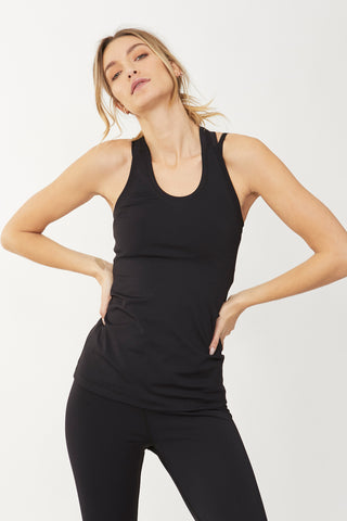 Luxe Active Fitted Racer Tank