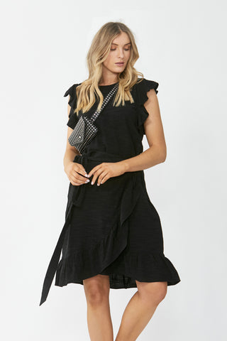Maya Textured Ruffle Dress