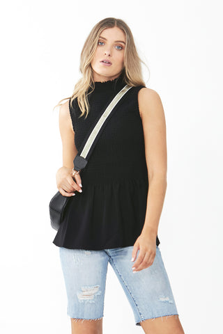 Estelle Sleeveless Shirred Top