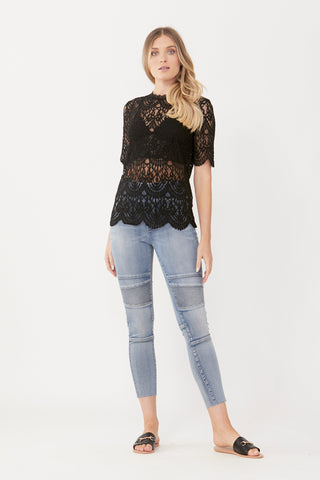 Riley Raw Crop Biker Jean