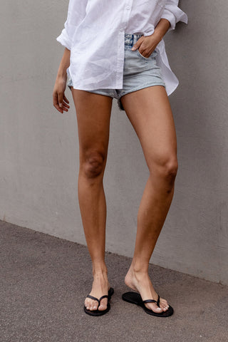 D-Luxe Denim Rolled Cuff Short