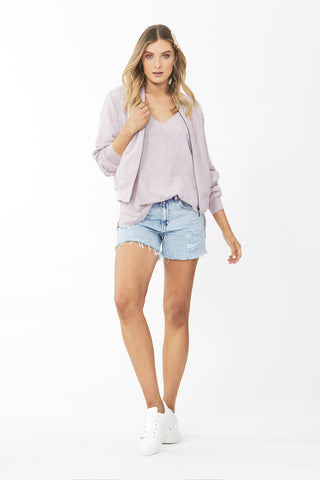 Arabella Burnout Bomber Jacket