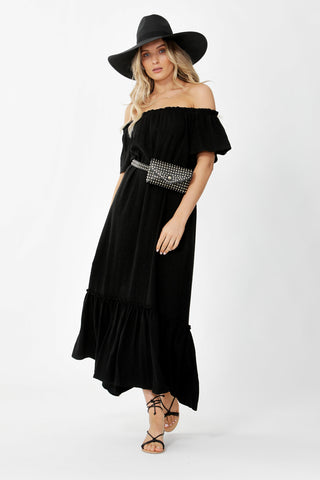 Liv Linen Off Shoulder Dress