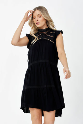 Cassandra Lace Insert Dress