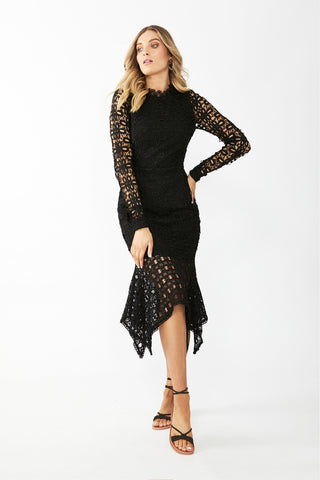 Ella Lace Midi Dress