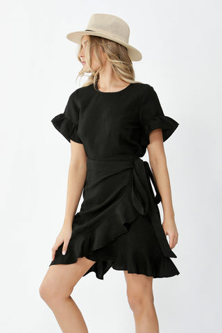 Maya Short Sleeve Ruffle Dress