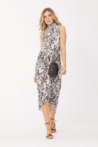 Fiona Midi Wrap Dress