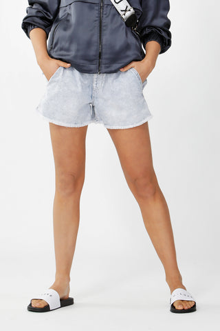 Luxe Denim Jogger Short