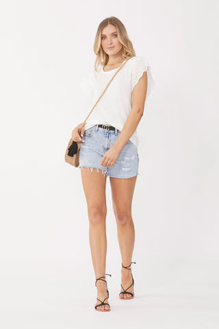 Brit Waterfall Lace Tee