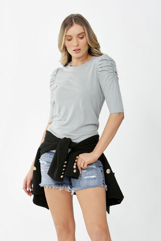 Sophie Ruched Sleeve Top