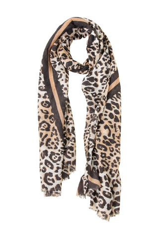 Faded Animal Textured Scarf