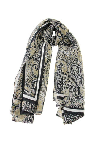 Paisley Pleated Scarf