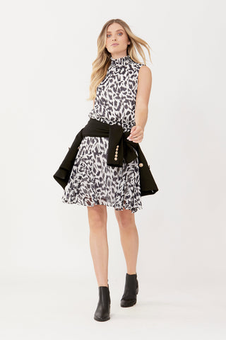 Emmy Shirred Neck Dress