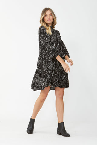 Abigail Tiered Trapeze Dress