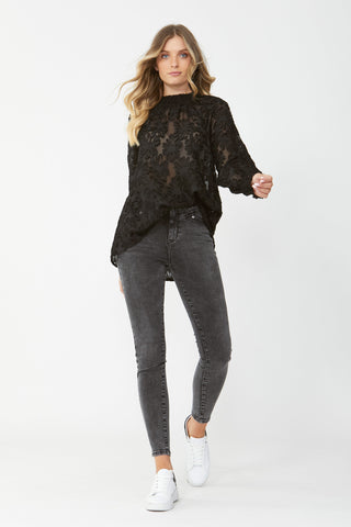 Isabella Burnout Blouse