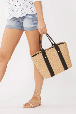 Jacquie Woven Tote Bag