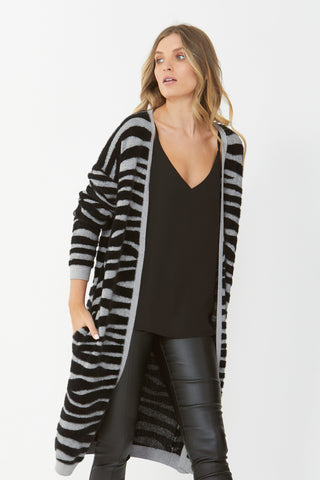 Talia Brushed Animal Cardi