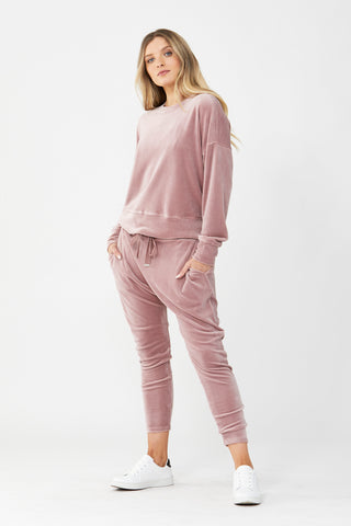 D-Luxe Velour Sweat