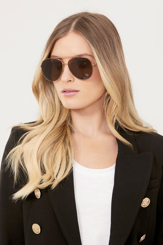 Chain Aviator Sunglasses