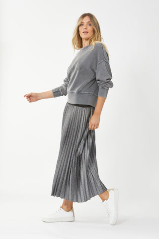 Lilly Textured Metallic Skirt