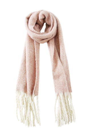 Two Tone Long Fluffy Scarf