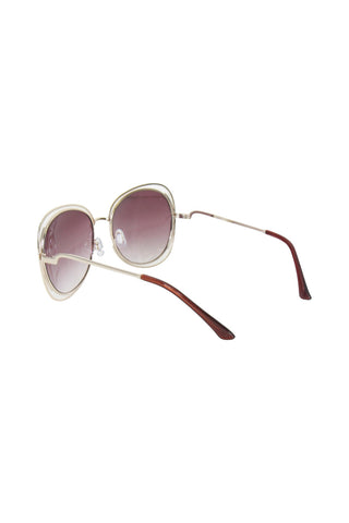Metal Border Sunglasses