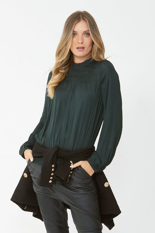 Emilia Shirred Detail Blouse