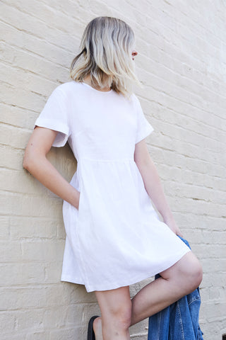 D-Luxe Linen Boxy Dress