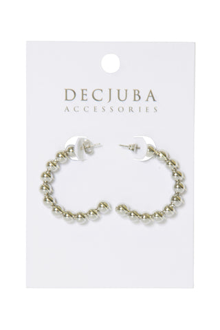 Giselle Bead Hoop Earrings