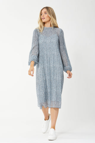 Viktoria Pleated Midi Dress